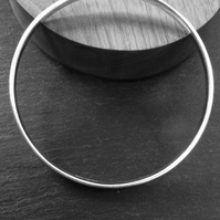 Simple sterling silver bangle, plain bangle, silver jewellery, CUSTOM MADE