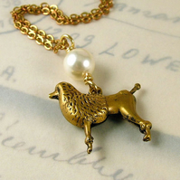 Vintage French Poodle Necklace