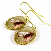 Drink Me Earrings - Alice in Wonderland