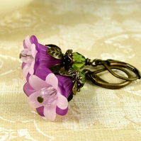 Violet Flowerbell Earrings