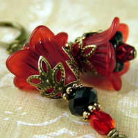 Scarlett - Vintage Style Floral Earrings