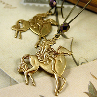 Lady Godiva Brass Earrings