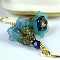 Twilight Bluebell Earrings - Vintage Floral Style