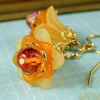 Fire Lily Earrings