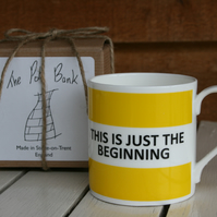 This Is Just The Beginning Hoop Mug Gift Boxed (choice of ten colours)