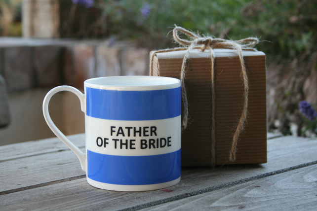 Father of The Bride Hoop Mug Gift Boxed (Dad of The Bride also available)