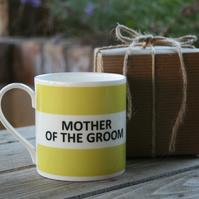 Mother of The Groom Hoop Mug Gift Boxed (pictured in light green)