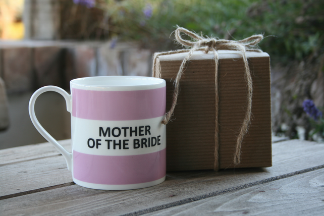 Mother of The Bride Mug Boxed (Mum of Bride also available)choice of ten colours