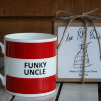 Funky Uncle Hoop Mug Gift Boxed (choice of ten colours)