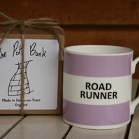 Road Runner Hoop Mug Gift Boxed (pictured in Lilac, choice of ten colours)