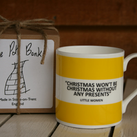 Little Women Quote Hoop Mug Gift Boxed (choice of ten colours)