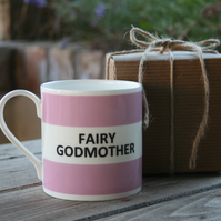 Fairy Godmother Hoop Mug Gift Boxed (choice of ten colours)