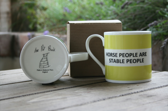Horse People Are Stable People Hoop Mug Boxed (pictured in light green)