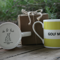 Golf Mad Hoop Mug Gift Boxed (choice of ten colours)