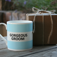 Gorgeous Groom Hoop Mug Gift Boxed (choice of ten colours)