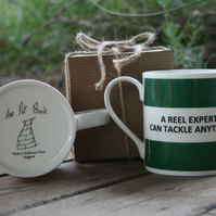 A Reel Expert Can Tackle Anything Hoop Mug Gift Boxed (choice of ten colours)