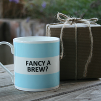 Fancy a Brew Hoop Mug Gift Boxed (choice of ten colours)
