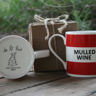 Mulled Wine Hoop Mug Gift Boxed (choice of ten colours)