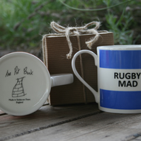 Rugby Mad Hoop Mug Gift Boxed (choice of ten colours)