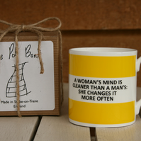 A Womans Mind Hoop Mug Gift Boxed (Choice of ten colours)