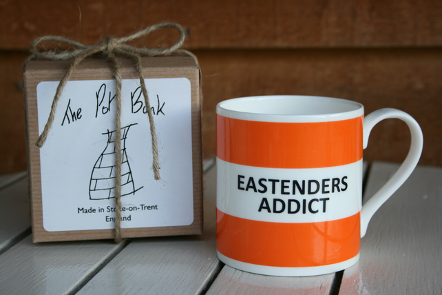 Eastenders Addict Hoop Mug Gift Boxed (choice of ten colours)