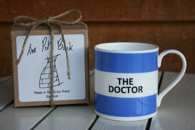 The Doctor Hoop Mug Gift Boxed (choice of ten colours)