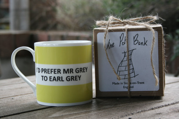 I'd Prefer Mr Grey Hoop Mug Boxed (Choice of 10 colours) Shown in Light Green