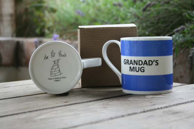 Grandad's Mug Hoop Mug Gift Boxed (choice of ten colours)
