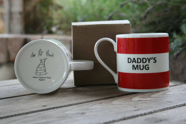 Daddy's Mug Hoop Mug Gift Boxed (choice of ten colours)