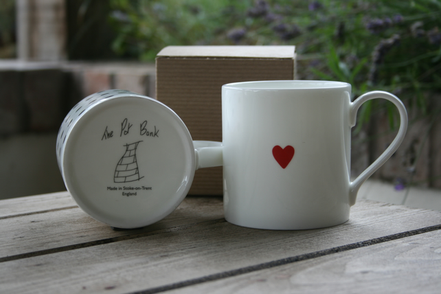 Small Single Heart Mug