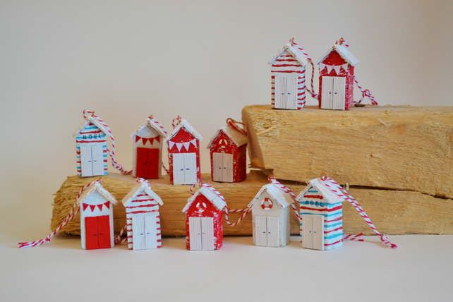 Miniature Driftwood Beach Hut Christmas Decorat Folksy