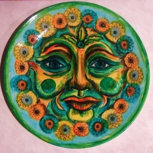 Recycled China Green Mother Earth Plate