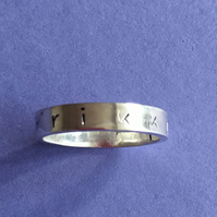 Personalised band ring
