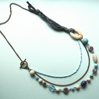 Bohemian-style multistrand necklace
