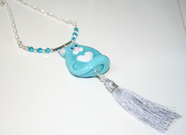 Fat cat necklace