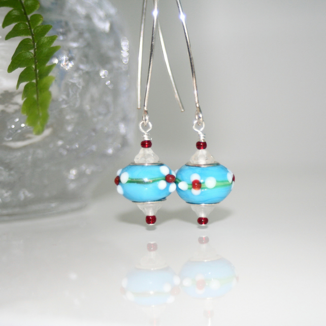 Moroccan blue earrings