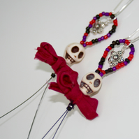 Sugar skull, Day of the Dead, Halloween earrings
