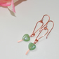 Aventurine and bare copper earrings