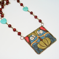 Voysey 'The Owl' arts and crafts necklace