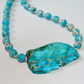 Empire jasper turquoise and silver necklace