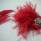 Handmade red fascinator