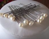 10 freshwater pearl hairpins