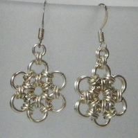 Daisy Drop Chainmaille Earings