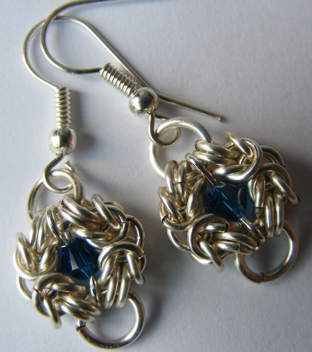 Capri Blue Crystal Romanov Earings