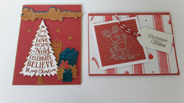 Pack of 4 small Christmas Cards