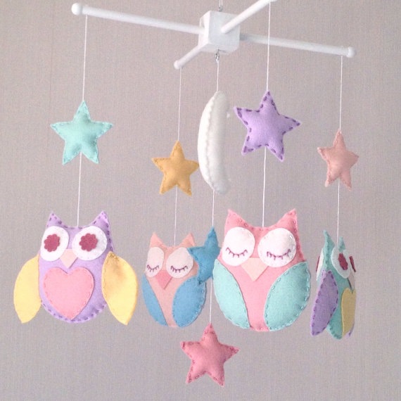Owl baby mobile - Cot mobile - Nursery Decor