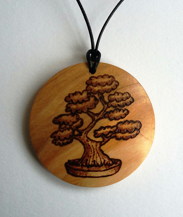 Bonsai tree pendant 257