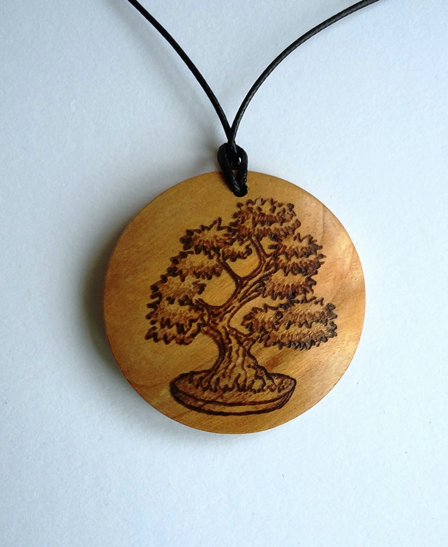 Bonsai tree pendant 258