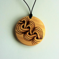 Beech Pendant with Plait Design 433