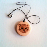 Sycamore Cat and Owl Pendant 552